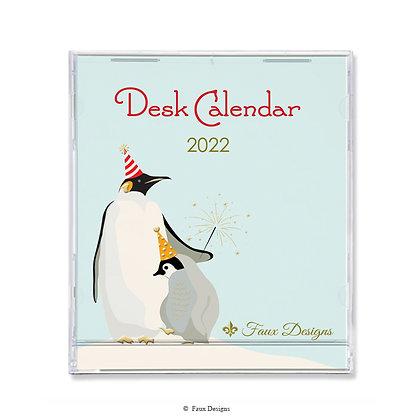 Penguins 16-Month 2021-2022 Desk Calendar