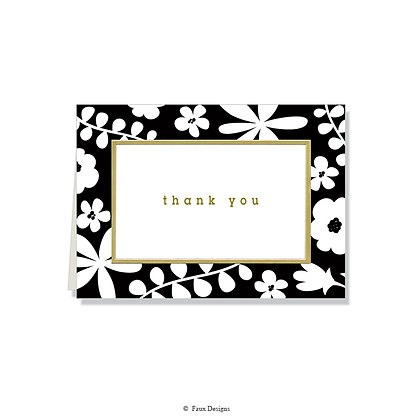 Thank You - B & W Floral