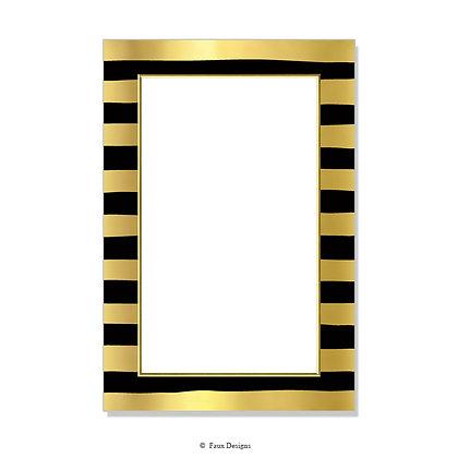 Cleopatra Black Invitation - Blank