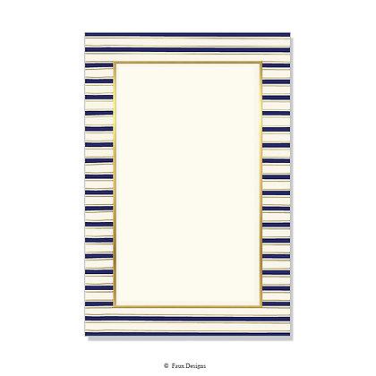 Chilmark Navy Blue Invitation - Blank