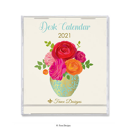 2021 Desk Calendar Bouquet