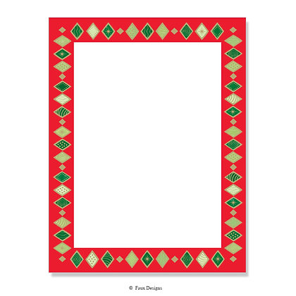 Harlequin Red & Green 8.5 x 11 Sheet