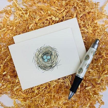 Nest Folded Note & Pen Set