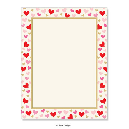 Hearts 8.5 x 11 Sheet