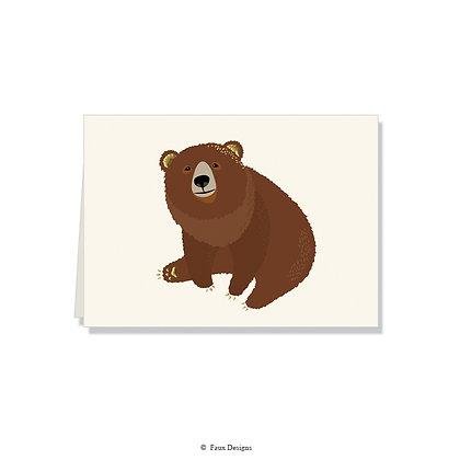 Bear Folded Note