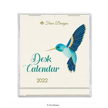 2022 Desk Calendar Hummingbird
