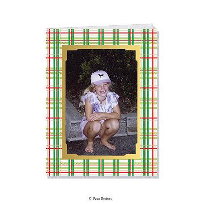 Plaid Photo Card