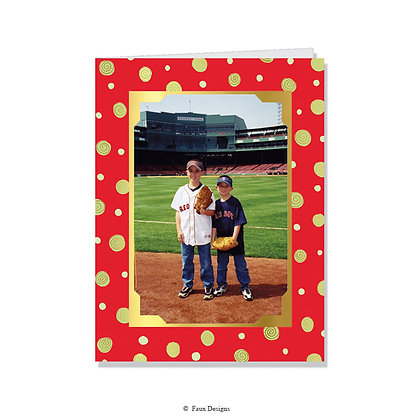 Dots & Swirls Photo Card