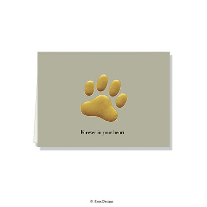 Forever in our Heart - Paw Print Gray