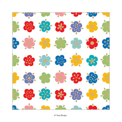 Forget Me Not Gift Wrap