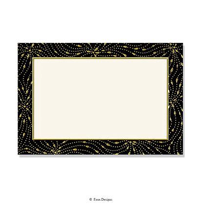 Meridian Black, Gold Invitation - Blank