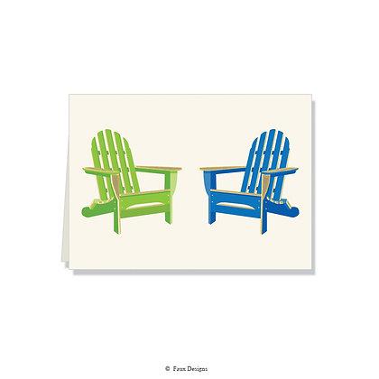 Adirondack Chairs Folded Note