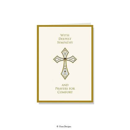 With Deepest Sympathy - Cross