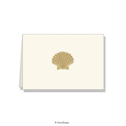 Seashell Folded Note