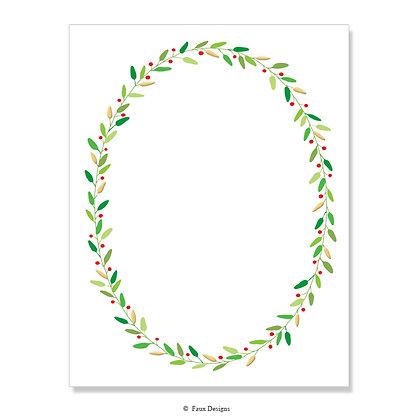 Holiday Laurel 8.5 x 11 Sheet