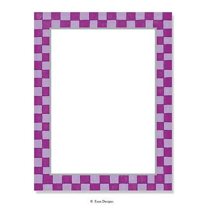 Checkered Purple 8.5 x 11 Sheet