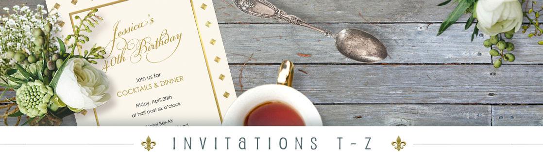 T - Z Invitations