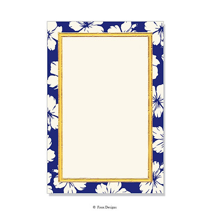 Hibiscus Blue Invitation - Blank
