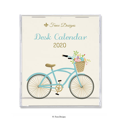 2020 Desk Calendar Bicycle