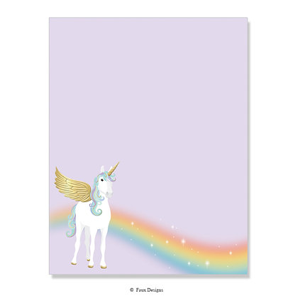 Unicorn 8.5 x 11 Sheet