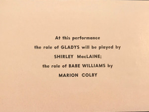 """AT THIS PERFORMANCE THE ROLE OF..."""