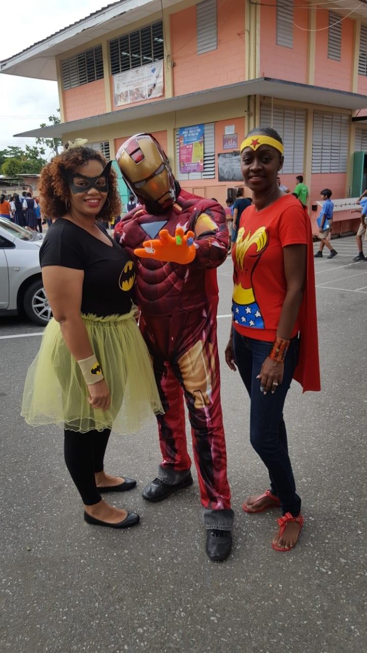 Batwoman, iron man & wonder woman