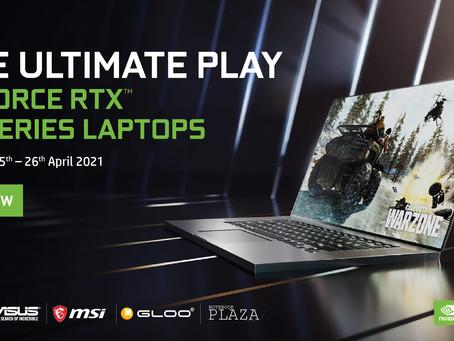 升級至配有光線追蹤以及AI輔助的全新GeForce RTX™️ 30系列筆電,爲您帶來究極的使用體驗!