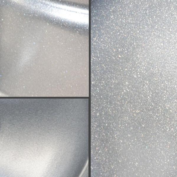 srebrny połysk z brokatem