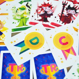 놀이용 TOP RANKER카드