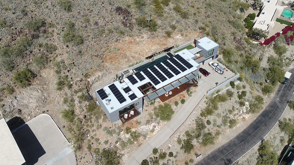After installation this home has 74 solar modules, 4 PV inverters, 1 battery inverter, and 1 battery storage.
