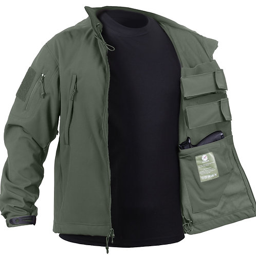 CONCEALED CARRY SOFT SHELL JACKET - OD GREEN