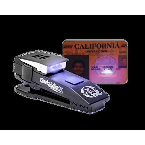 QuiqLiteX USB Rechargeable Clip on Light - UV