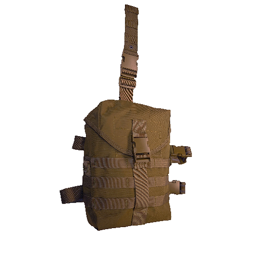 5IVE STAR GEAR DROPLEG GAS MASK CARRIER COYOTE TAN