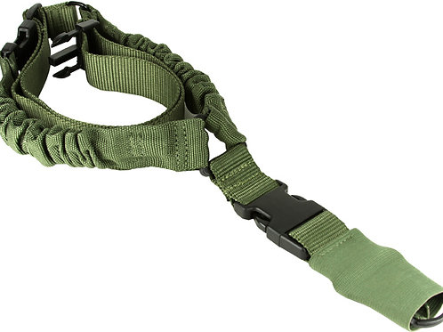 ONE POINT BUNGEE RIFLE SLING / OD GREEN