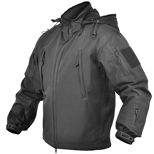 CONCEALED CARRY SOFT-SHELL JACKET - BLACK