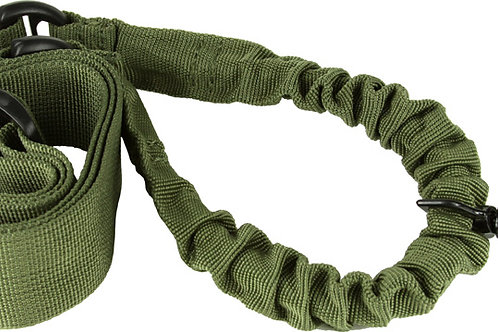 ONE POINT BUNGEE RIFLE SLING / GREEN