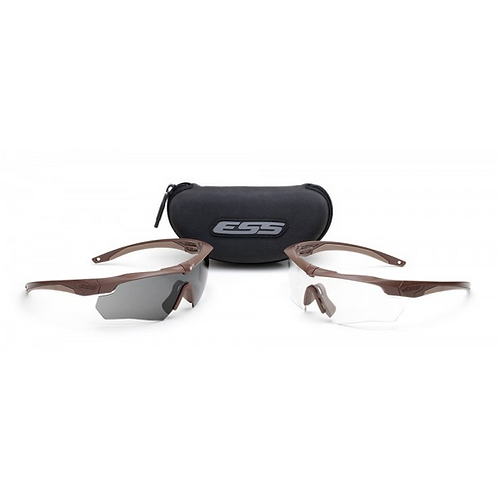 ESS CROSSBOW - COYOTE W/ CLEAR AND SMOKE LENSES