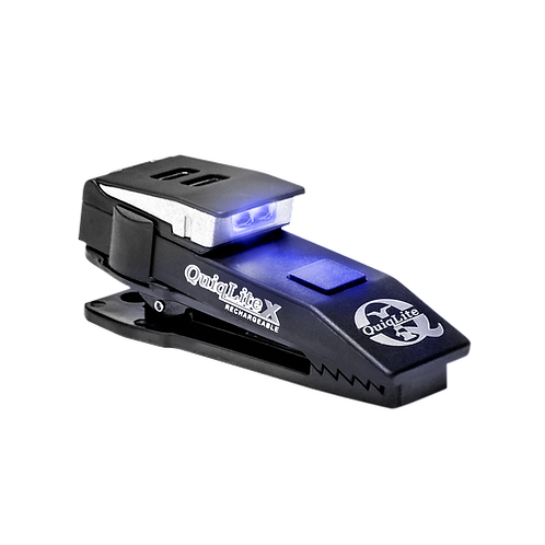 QuiqLiteX USB Rechargeable Clip on Light - BLUE