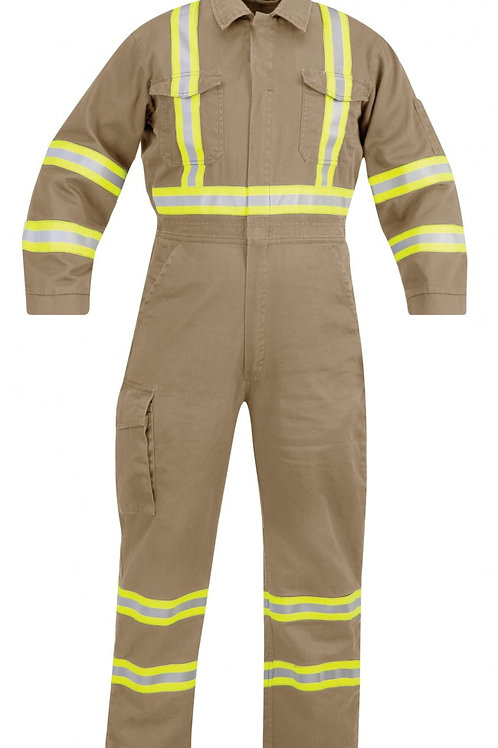 Propper® FR Coverall - Reflective Trim - KHAKI