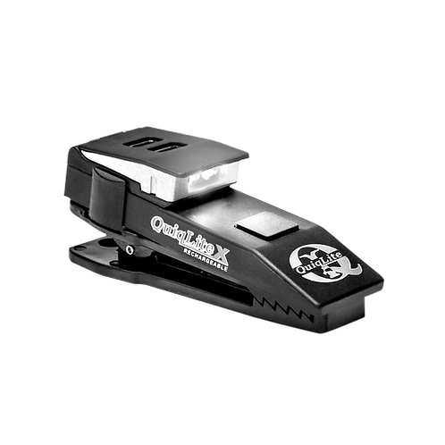 QuiqLiteX USB Rechargeable Clip on Light - WHITE
