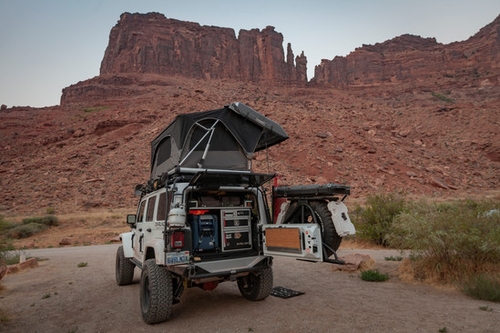 Camping under the Red Rocks at Moab