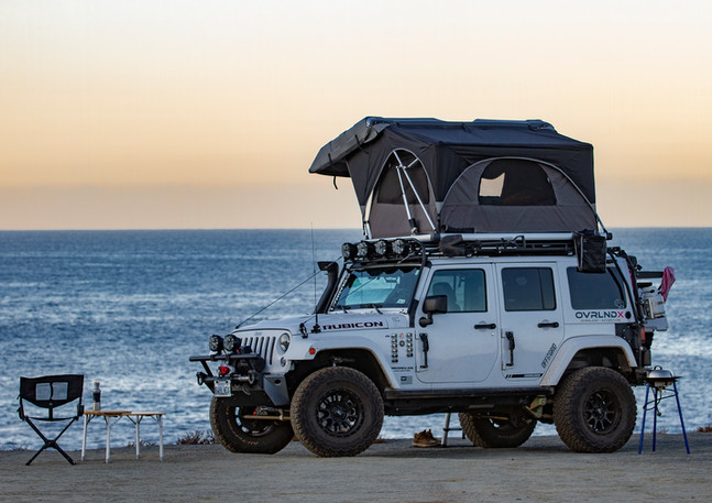 Camping in Baja, Mexico