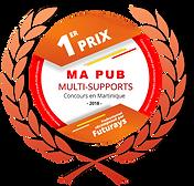 Badge-1er-prix-will'm coiffure-gagnant-concours-ma-pub-multi-supports-futurays-viàatv