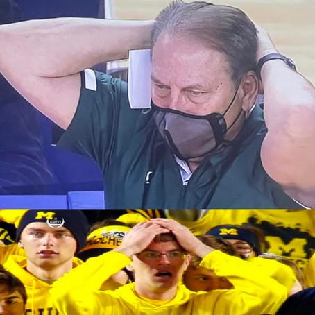 Tom Izzo Copies Michigan Meme Kid After Losing to Michigan