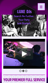 Event Production website templates – Wedding DJ