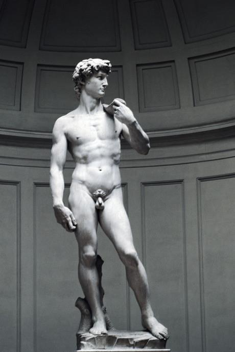 Michalengelo'nun Davut'unun içeriği güzelliktir Fotoğraf: CM Dixon/Print Collector/Getty Images