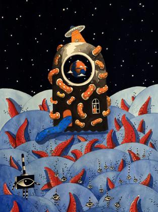 Bir İlkel Uzay Macerası, Galeri 77'de açıldı