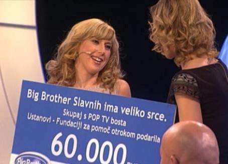 BIG BROTHER podelil 60.000 € donacije