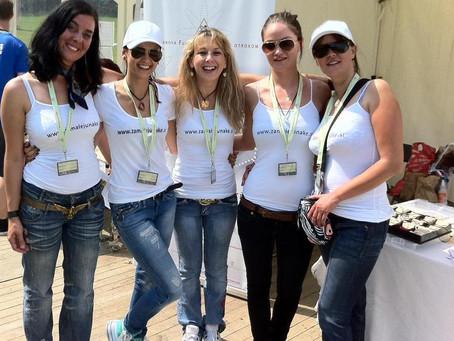 Prostovoljke Fundacije prisotne na dm teku za ženske