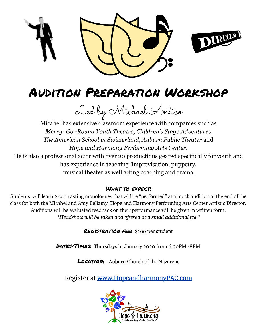 Audition Preparation Workshop Poster-pag